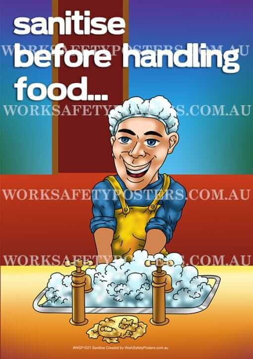 Sanitise Workplace Safety Poster