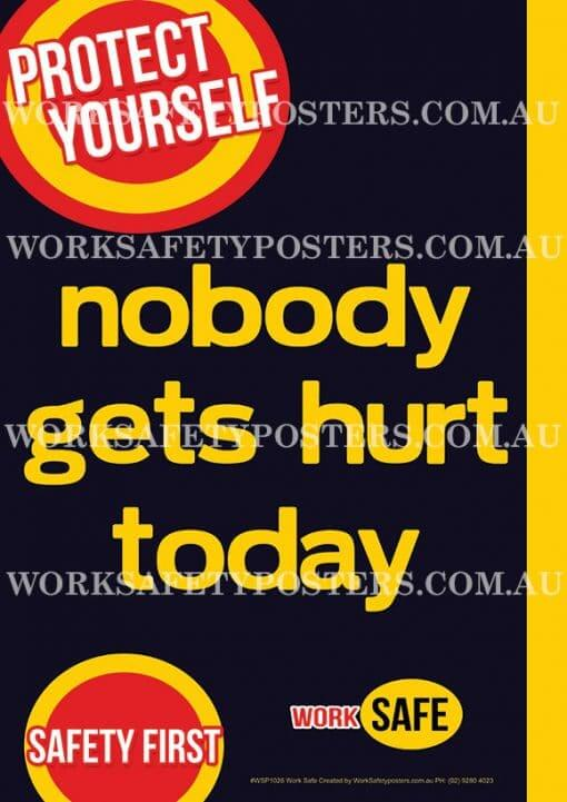 Nobody Gets Hurt Safety Poster