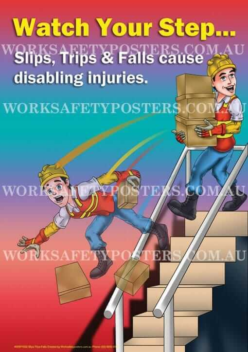 Watch Your Step Safety Poster