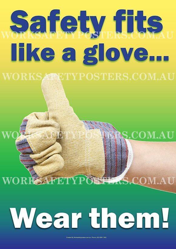 Safety Gloves Poster