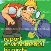Report Environmental Hazards Safety Posters