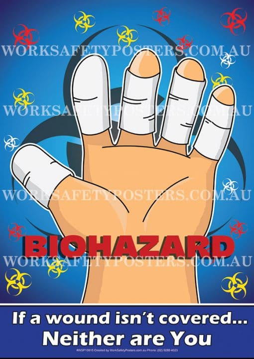 Biohazard Protect Wounds Safety Poster