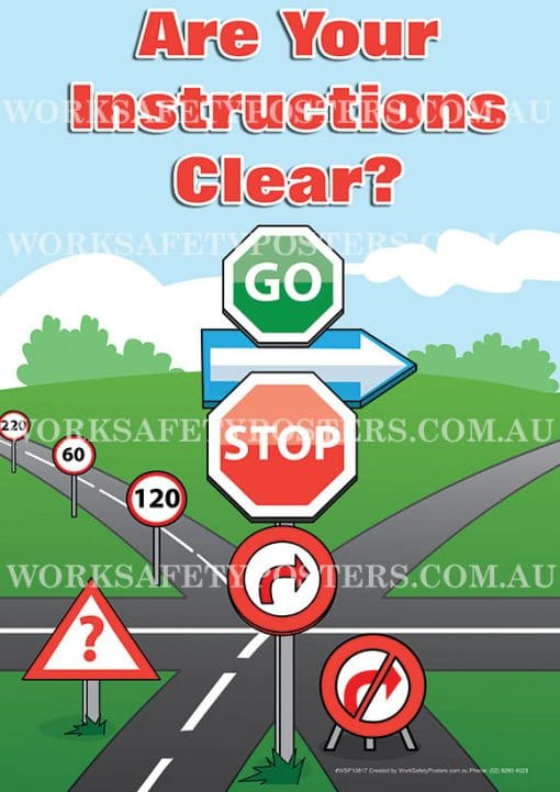 Clear Instructions Quality Poster