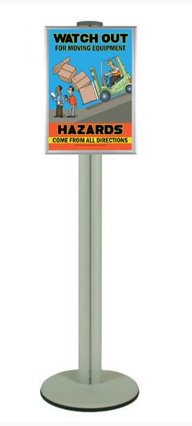 Snap Frame Single or Double Sided Poster Frame on Pole - Safety ...