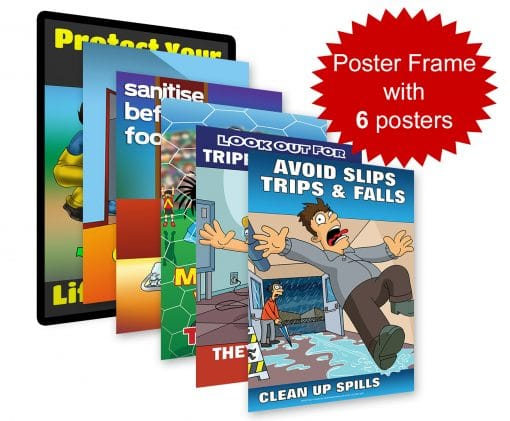 Safety Poster Frame With Six Posters