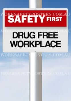 Drug Free Workplace Safety Poster