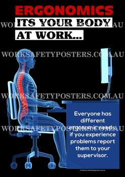 Ergonomics in the Workplace Poster